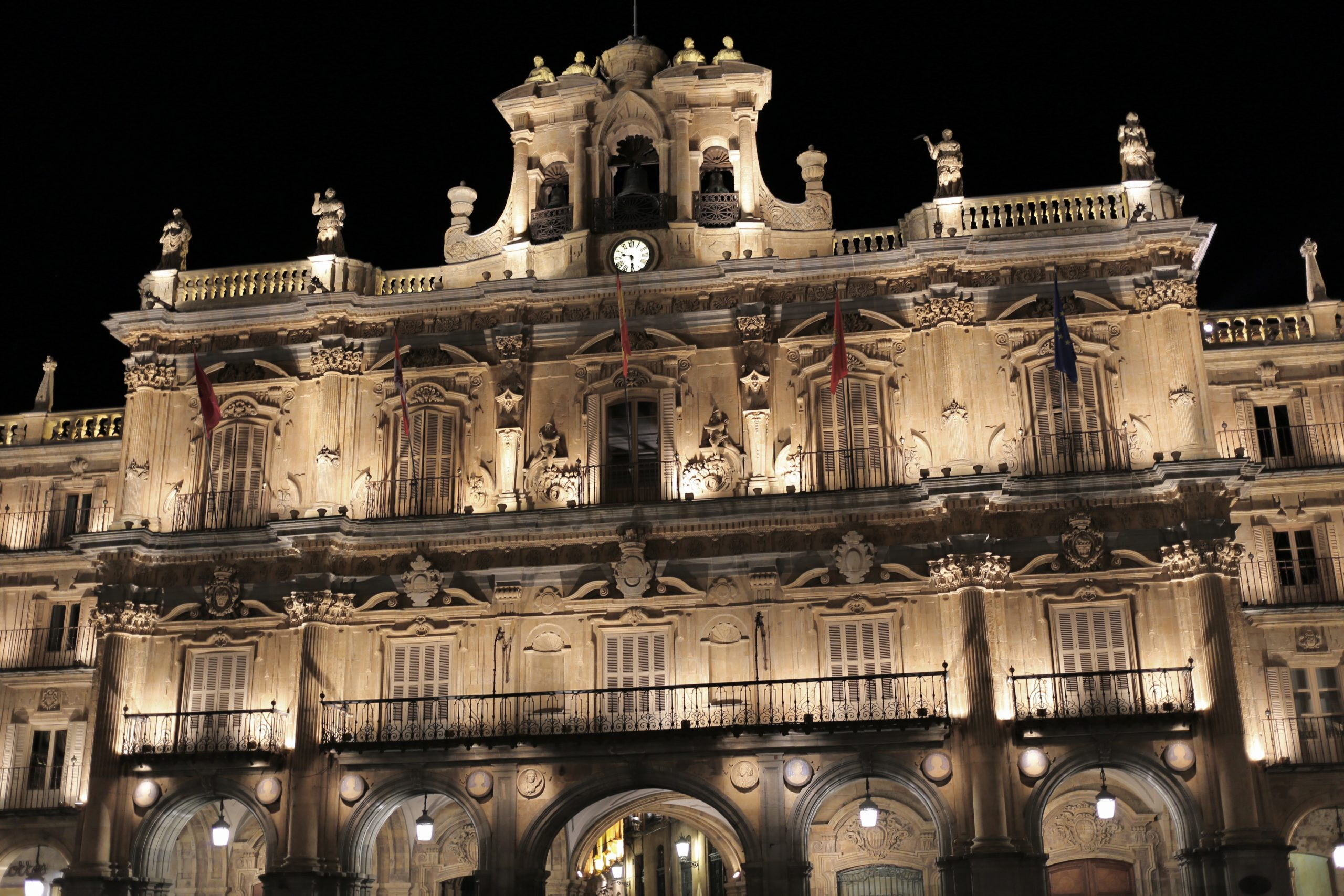 The Plaza Mayor at night, Salamanca, Spain