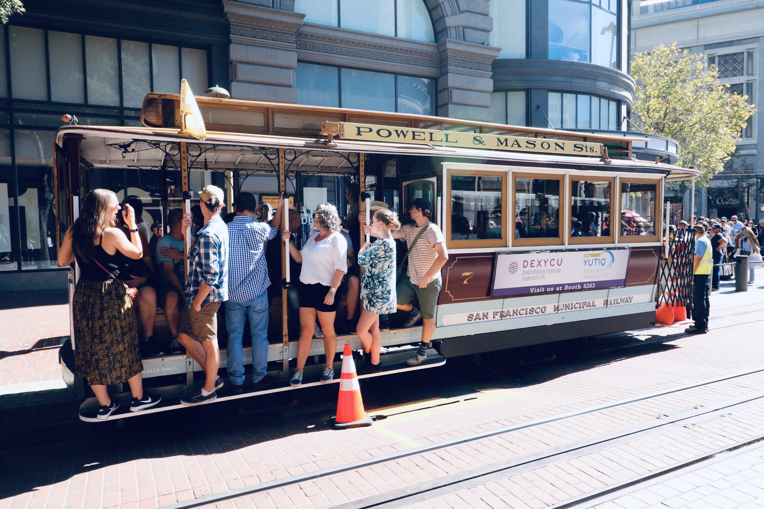 San Francisco cable car, an icon of San Francisco