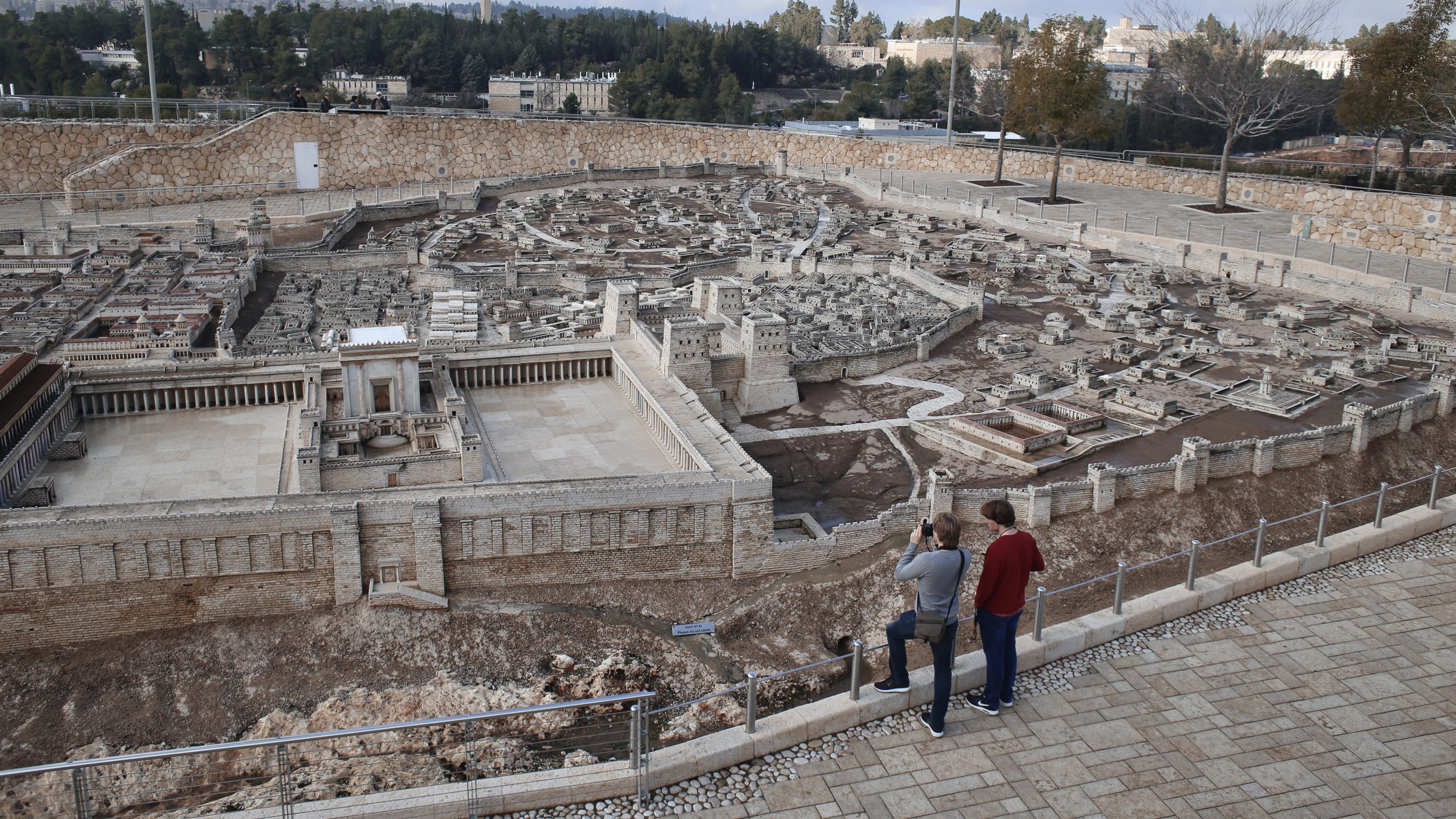 Model of Jerusalem, with the Herod's Temple in foreground, during the Second Temple period (circa first century CE), Israel Museum, Jerusalem
