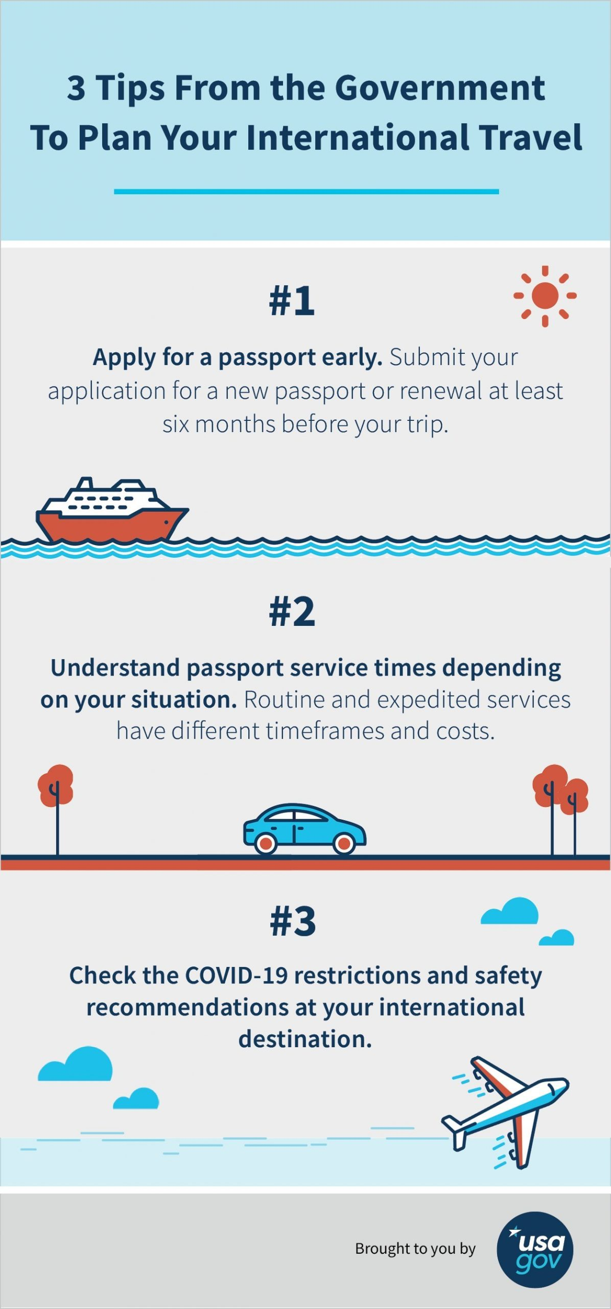 3 Tips From the Government To Plan for International Travel